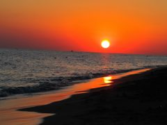 Tramonto sul mare di Gallipoli