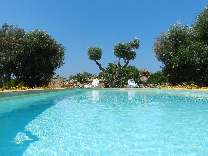 b&b nel salento con piscina